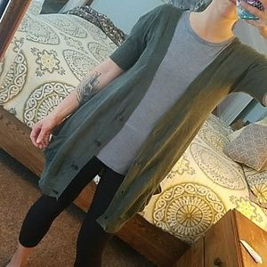 Free People Sweaters - Free People Short-Sleeved Duster Cardigan